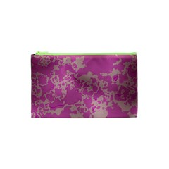 Unique Marbled Pink Cosmetic Bag (xs)