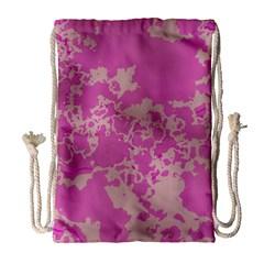Unique Marbled Pink Drawstring Bag (Large)