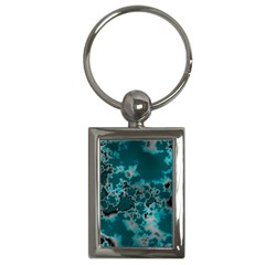 Unique Marbled Teal Key Chains (rectangle)