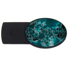 Unique Marbled Teal USB Flash Drive Oval (4 GB)