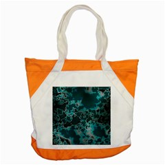 Unique Marbled Teal Accent Tote Bag