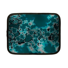 Unique Marbled Teal Netbook Case (small)