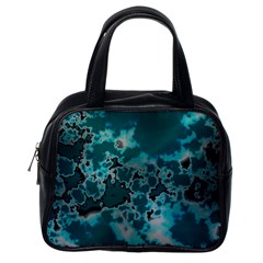 Unique Marbled Teal Classic Handbags (one Side)