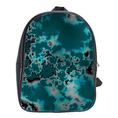 Unique Marbled Teal School Bags(large)