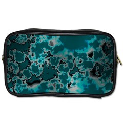 Unique Marbled Teal Toiletries Bags 2 Side
