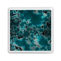 Unique Marbled Teal Memory Card Reader (square)