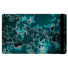 Unique Marbled Teal Apple Ipad 2 Flip Case
