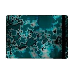 Unique Marbled Teal Apple iPad Mini Flip Case