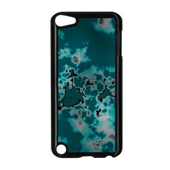 Unique Marbled Teal Apple iPod Touch 5 Case (Black)