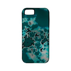 Unique Marbled Teal Apple Iphone 5 Classic Hardshell Case (pc+silicone)