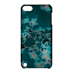 Unique Marbled Teal Apple iPod Touch 5 Hardshell Case with Stand