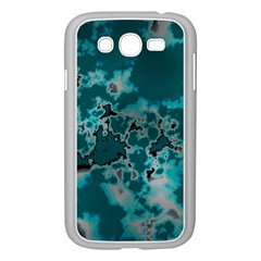 Unique Marbled Teal Samsung Galaxy Grand Duos I9082 Case (white)