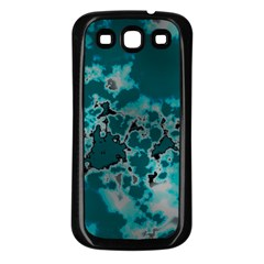 Unique Marbled Teal Samsung Galaxy S3 Back Case (black)