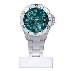 Unique Marbled Teal Nurses Watches