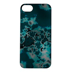 Unique Marbled Teal Apple iPhone 5S Hardshell Case