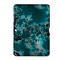 Unique Marbled Teal Samsung Galaxy Tab 2 (10.1 ) P5100 Hardshell Case