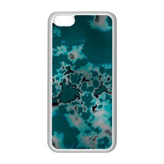 Unique Marbled Teal Apple iPhone 5C Seamless Case (White)