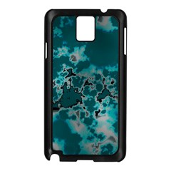 Unique Marbled Teal Samsung Galaxy Note 3 N9005 Case (Black)
