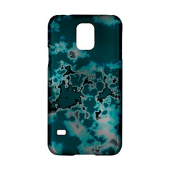 Unique Marbled Teal Samsung Galaxy S5 Hardshell Case