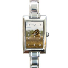 Butterfly against Blur Background at Iguazu Park Rectangle Italian Charm Watches