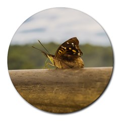 Butterfly against Blur Background at Iguazu Park Round Mousepads