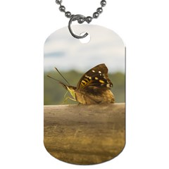Butterfly against Blur Background at Iguazu Park Dog Tag (One Side)