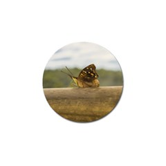 Butterfly against Blur Background at Iguazu Park Golf Ball Marker (4 pack)