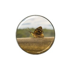 Butterfly against Blur Background at Iguazu Park Hat Clip Ball Marker (4 pack)