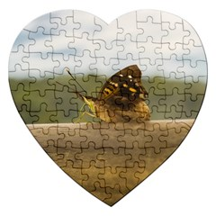 Butterfly against Blur Background at Iguazu Park Jigsaw Puzzle (Heart)