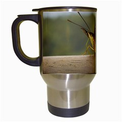 Butterfly against Blur Background at Iguazu Park Travel Mugs (White)