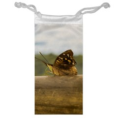 Butterfly against Blur Background at Iguazu Park Jewelry Bags
