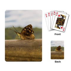 Butterfly against Blur Background at Iguazu Park Playing Card