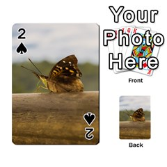 Butterfly Against Blur Background At Iguazu Park Playing Cards 54 Designs