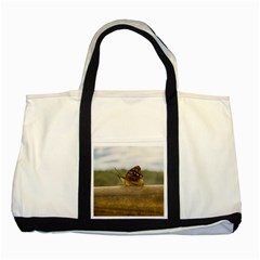 Butterfly against Blur Background at Iguazu Park Two Tone Tote Bag