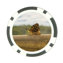 Butterfly against Blur Background at Iguazu Park Poker Chip Card Guards