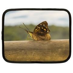 Butterfly against Blur Background at Iguazu Park Netbook Case (XL)
