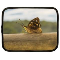 Butterfly against Blur Background at Iguazu Park Netbook Case (XXL)