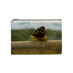 Butterfly against Blur Background at Iguazu Park Cosmetic Bag (Medium)