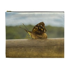 Butterfly against Blur Background at Iguazu Park Cosmetic Bag (XL)