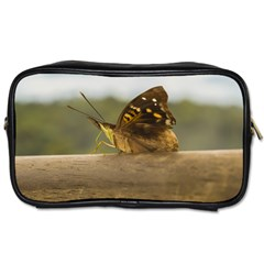Butterfly against Blur Background at Iguazu Park Toiletries Bags 2-Side