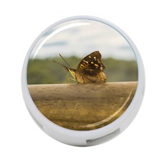 Butterfly against Blur Background at Iguazu Park 4-Port USB Hub (Two Sides)