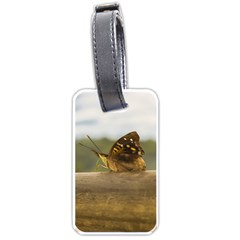 Butterfly against Blur Background at Iguazu Park Luggage Tags (Two Sides)