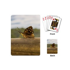 Butterfly against Blur Background at Iguazu Park Playing Cards (Mini)