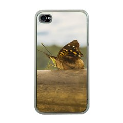 Butterfly against Blur Background at Iguazu Park Apple iPhone 4 Case (Clear)