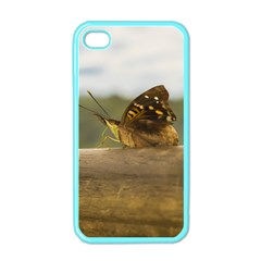 Butterfly against Blur Background at Iguazu Park Apple iPhone 4 Case (Color)