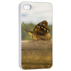 Butterfly Against Blur Background At Iguazu Park Apple Iphone 4/4s Seamless Case (white)