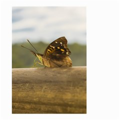 Butterfly against Blur Background at Iguazu Park Small Garden Flag (Two Sides)