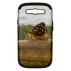 Butterfly against Blur Background at Iguazu Park Samsung Galaxy S III Hardshell Case (PC+Silicone)