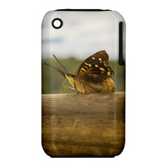 Butterfly against Blur Background at Iguazu Park Apple iPhone 3G/3GS Hardshell Case (PC+Silicone)