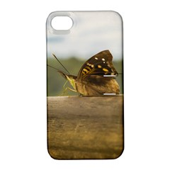 Butterfly against Blur Background at Iguazu Park Apple iPhone 4/4S Hardshell Case with Stand